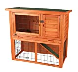 TRIXIE Pet Products Rabbit Hutch with Sloped Roof (M), Glazed Pine