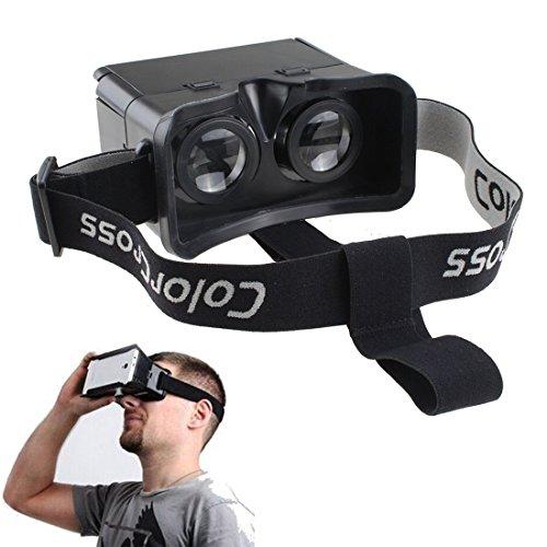 "AGPtek® Black Google Cardboard Universal Virtual Reality 3D Video Glasses for 3.5"" to 6"" Smartphones"