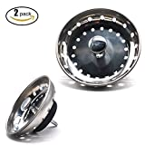 Tools & Hardware : FATHER.SON Stainless steel Rubber plug Kitchen Sink Basket Strainer Replacement for Standard Drains 2 pcs (2)