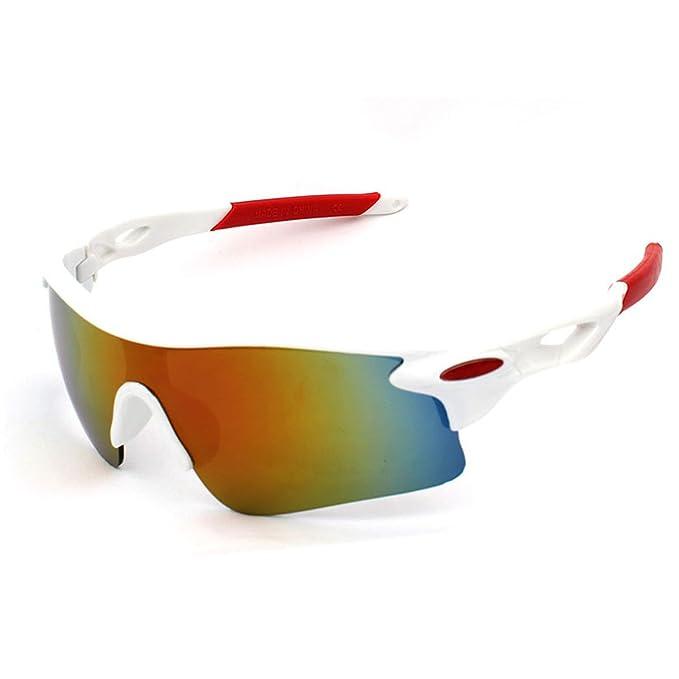 jiele gafas de sol para hombre, Sport Gafas de sol al aire libre, moda gafas de sol, UV400 protección gafas para ciclismo, pesca, correr esquí, Unisex, ...