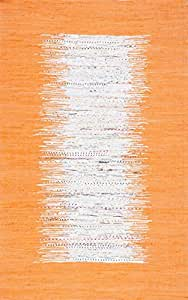 Nuloom 4' x 6' Flatweave Tasha Cotton Rug in Orange