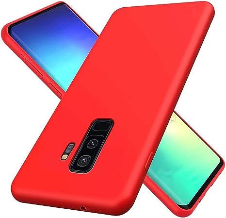 DYGG - Funda para Samsung Galaxy S8, TPU silicona, Rojo-02, Samsung Galaxy S9 Plus/S9+: Amazon.es: Electrónica