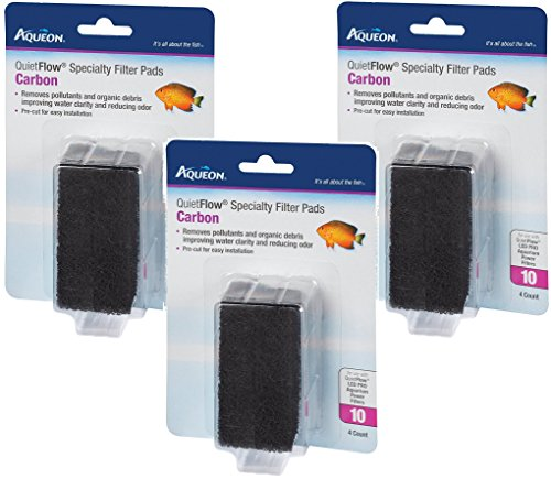 (3 Pack) Aqueon QuietFlow Carbon Cartridge with Bio-Media Grid (Additional Replacement Filter Cartridges)