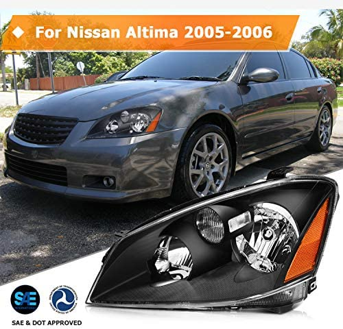 ECCPP Headlight Assembly For Nissan Altima 2005-2006 Headlamps ...