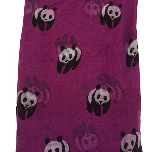 En Panda Écharpe Voile Wrap Rose Femme Acvip Rouge Châle Motif xSRpwfwqP