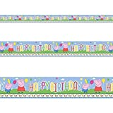 Peppa Pig Cute Carnival Birthday Children's Party Foil Banner Decoration