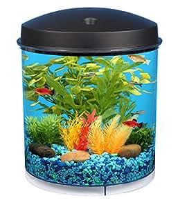Aquaview 360 2 Gallon Aquarium with LED Lighting and Internal Filter