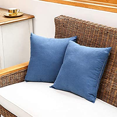 LBANI Decorative Throw Pillow Covers, Soft Throw Cushion Covers Pillowcases for Sofa Bedroom, 18 x 18 Inch