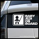 Baby JEDI on BOARD Padawan Vinyl Decal | Star Wars Skywalker Vader Jedi Force Rebel Alliance Galactic Empire | Cars Trucks Vans Laptops Windows Cups Tumblers Mugs | Made in the USA
