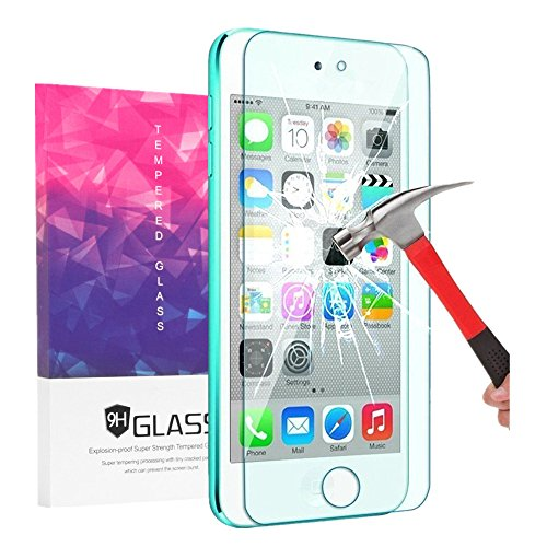iPod Touch Screen Protector, VPR 0.2mm Ultra Thin 9H Hardness 2.5D High Definition Premium Tempered Glass with [Highly Responsive] [No-Bubble] for for Apple iPod Touch 6th, 5th Generation (1pack)