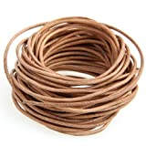 """Ecloud ShopCA 9 Meter Long Leather Natural Tan Necklace Pendant Jewelry Cord DIY 0.08"""" FASHION"""