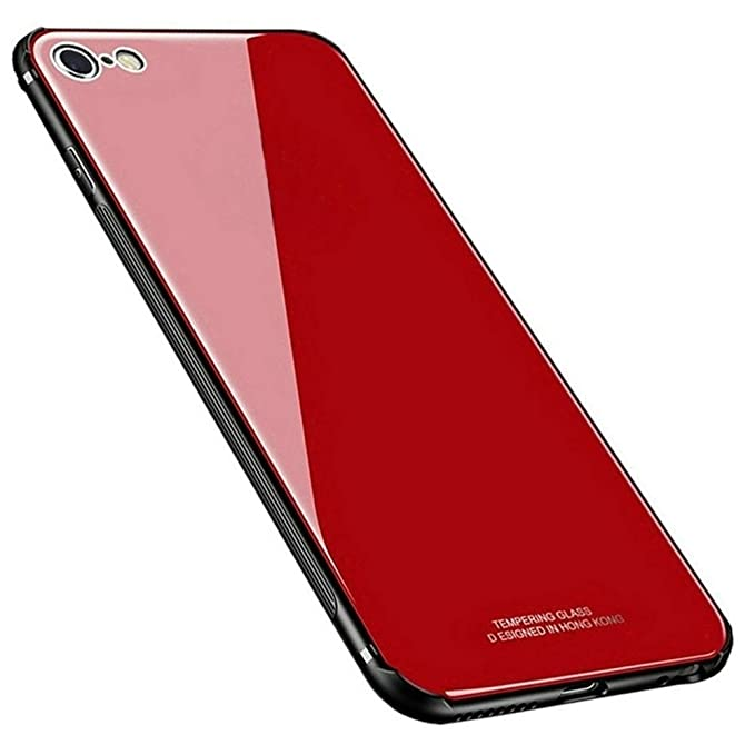 43 opinioni per Kepuch Quartz iPhone 7 iPhone 8 Cover- TPU + Vetro Temperato Indietro Custodia