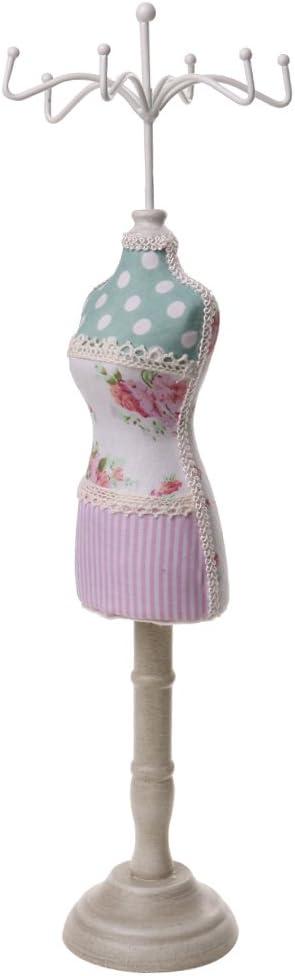 Bande Rose sharprepublic 7 Porte-pr/ésentoir /à Bijoux en Bois Vintage Cheongsam avec Mannequin Design