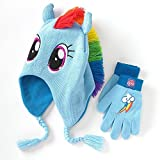 (US) My Little Pony Rainbow Dash Beanie Hat and Gloves