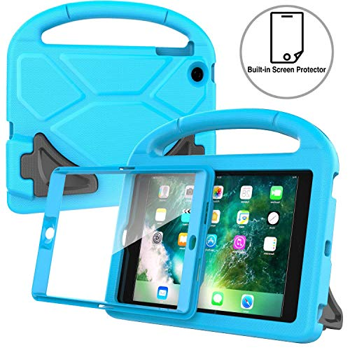 AVAWO Kids Case Built-in Screen Protector for iPad Mini 1 2 3 - Light Weight Shock Proof Handle Stand Kids for iPad Mini 1st Generation, iPad Mini 2nd Generation, iPad Mini 3rd Generation - Blue