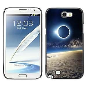 Cubierta de la caja de protección la piel dura para el SAMSUNG GALAXY NOTE 2 / N7100 - Space Planet Galaxy Stars 51