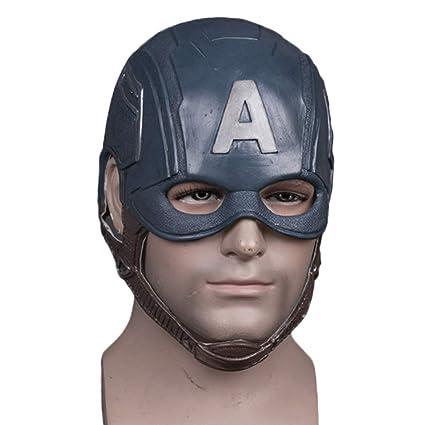 QQWE Capitán América Casco Máscara De Halloween Máscara Película Show Masquerade Fiesta Temática Cosplay,A