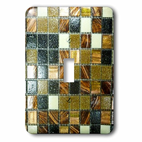 Metallic Images (3dRose lsp_223492_1 Image of Gold Copper Metallic Tiles Single Toggle Switch, Black)