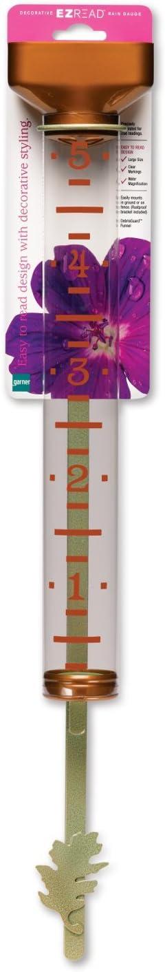 "Headwind Consumer Products 820-0591 Decorative EZREAD Rain Gauge, Rich Copper, 15"""