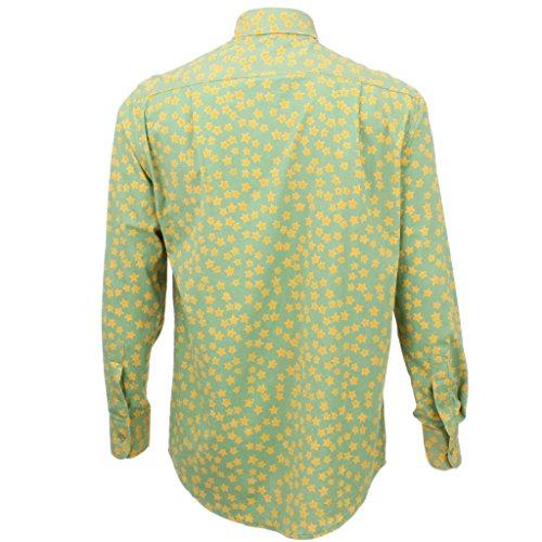 Loud Originals Regular Fit Langärmeliges Top - grün mit gelb Stars