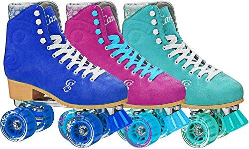 Roller Derby Candi Girl U774 Carlin Quad Artistic Roller Skates Seafoam Ladies sz 9 ()