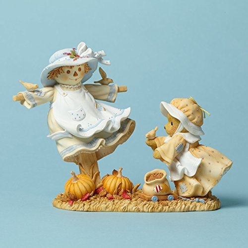 Cherished Teddies Collection Bear with Scarecrow Figurine, 5-Inch #4042749