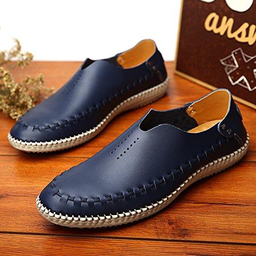 Casual Mocassini Shoes Black HGDR D'affari In Da Alla Uomo Pelle Slip On Di Uomo Guida Scarpe Da CCq7wBgp
