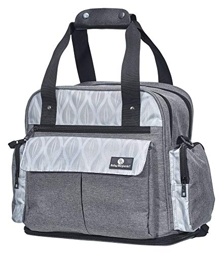 Baby Benjamin Diaper Bag Backpack Tote with Insulated Bottle Pockets, Gray Bag Health Tote Bag