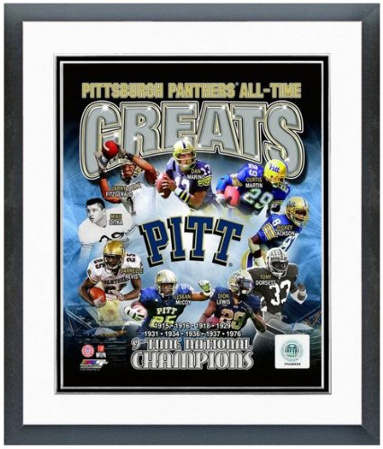 Pitt Panthers Football Photo (Pittsburgh Panthers NCAA Football All Time Greats Composite Photo 12.5