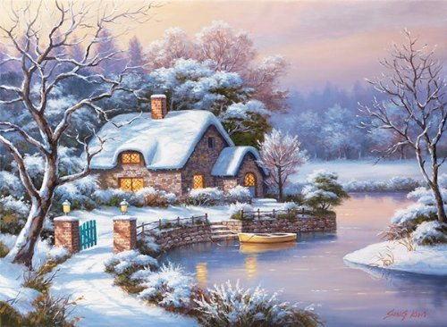 1000 Piece - Anatolian Puzzle - Winter Evening Puzzle by Anatolian