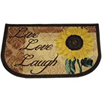 Live Love Laugh Sunflower Rug Skid Resistant Latex Back 18x30 Inch