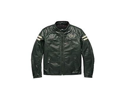 De Harley Davidson, chaqueta de piel Back de alcance CE ...