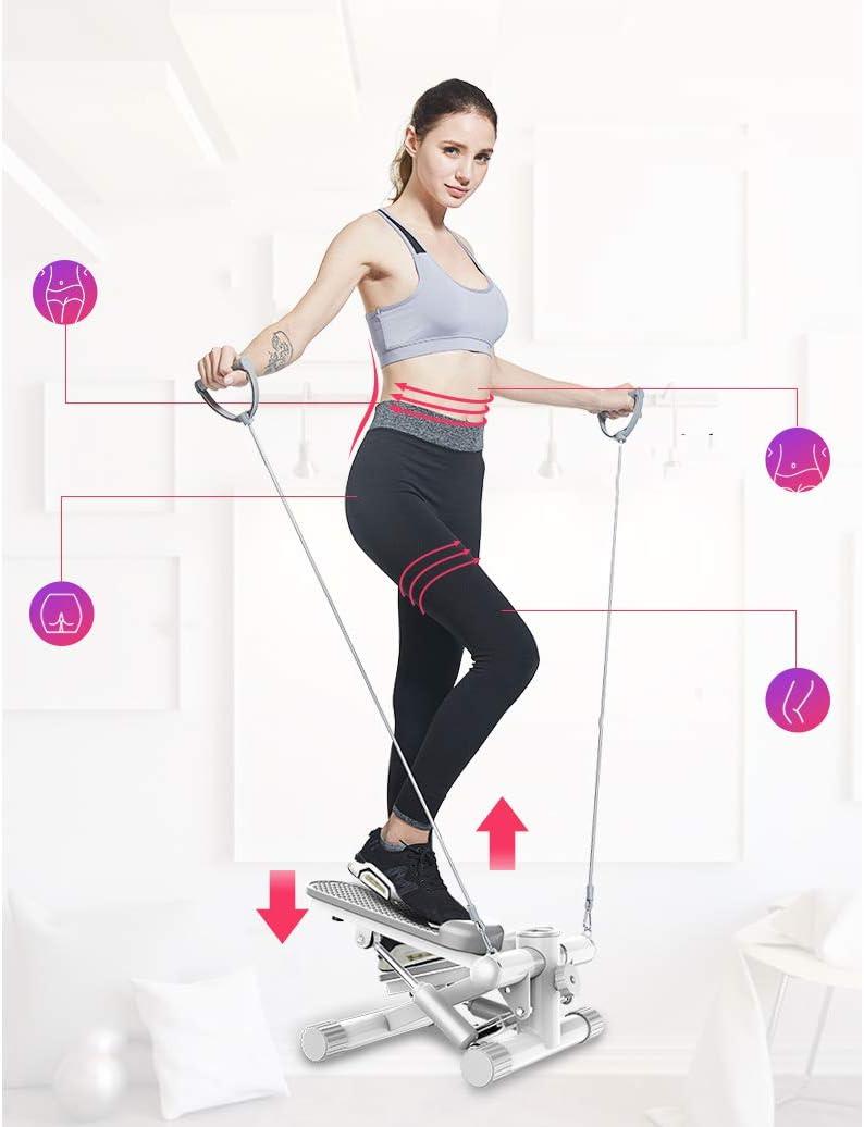 XY/&YD Formation Fitness Rotary Stepper Sidestepper /Équipement avec Bandes De R/Ésistance,Stepper Twister pour Homme Et Femme,Stepper pour La/érobic Et Fitness Machine dexercice Gris