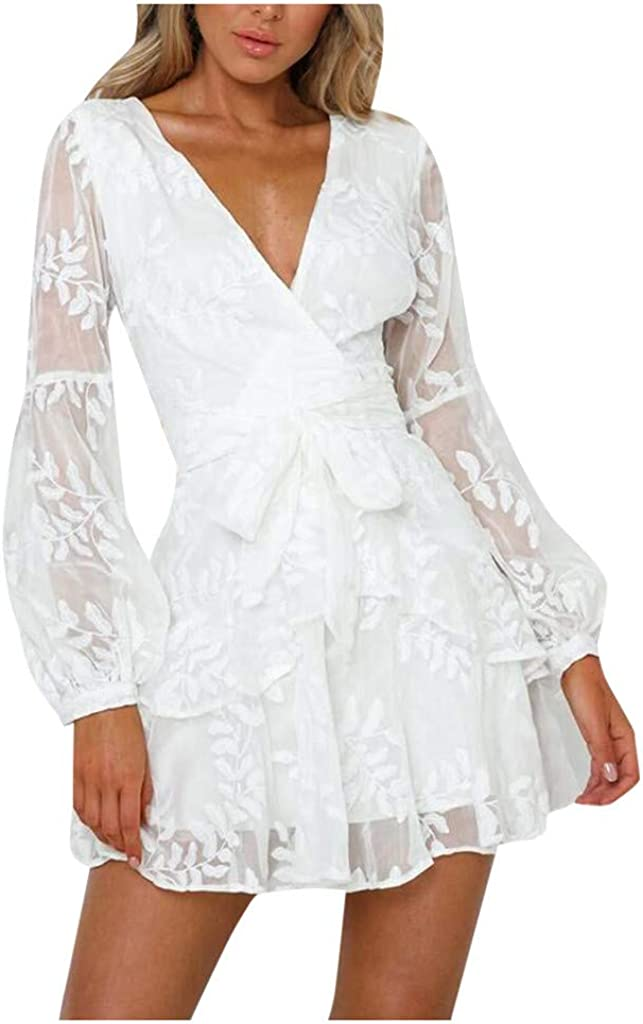 VOWUA Club Dresses Lace...