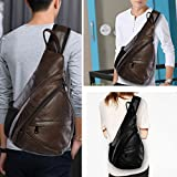 Leather Sling Bag Backpack, Multipurpose Outdoor