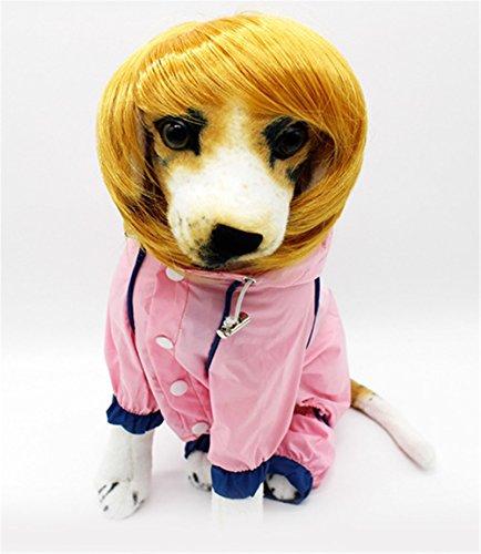 Stillshine Pet Supplies Perruque d'animal mignon chien chat Pet Costume pour (jaune)