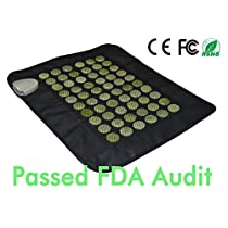 UTK Far Infrared Natural Heating Pad Mat for Pain Relief with Smart Controller, Memory Function, Auto Shut Off Timing Setting [US FDA] Travel BagIncluded