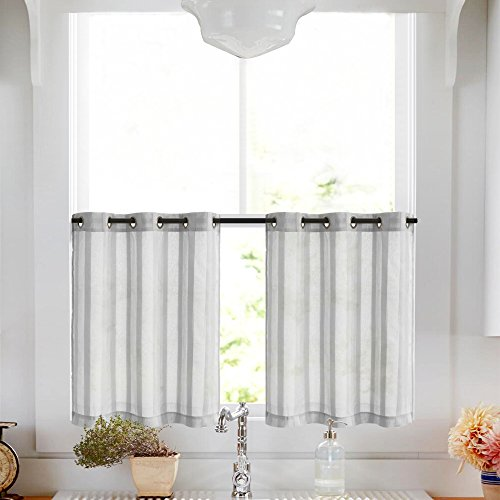Tier Curtains for Kitchen 36 inch Length Cafe Curtains Strip