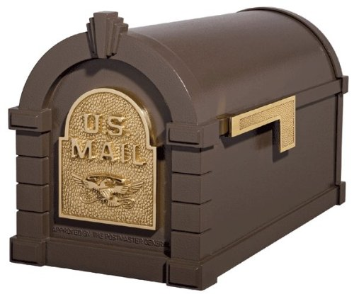 (Gaines KS-4A - Eagle Keystone Series Mailboxes - Bronze/Polished Brass)