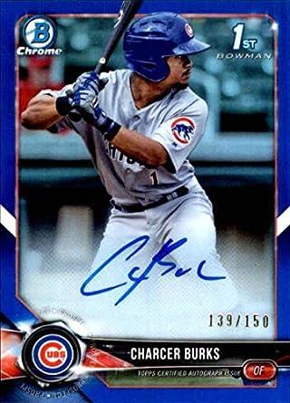 Autographs-original Balls Charcer Burks Chicago Cubs Rookie Autographed New Minor League Ball # 4