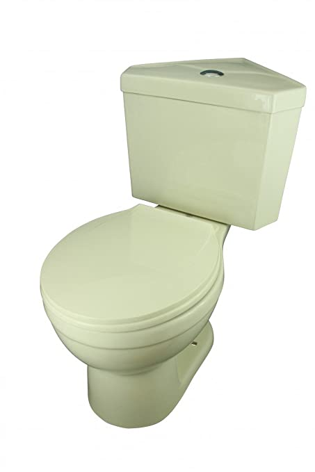 Bone China Round Space Saving Dual Flush Corner Toilet - Two Piece ...