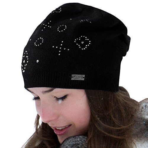 c751586dd66bf6 LADYBRO Wool Slouchy Beanie Knit Hats for Women Double Layers Winter Skull  Caps