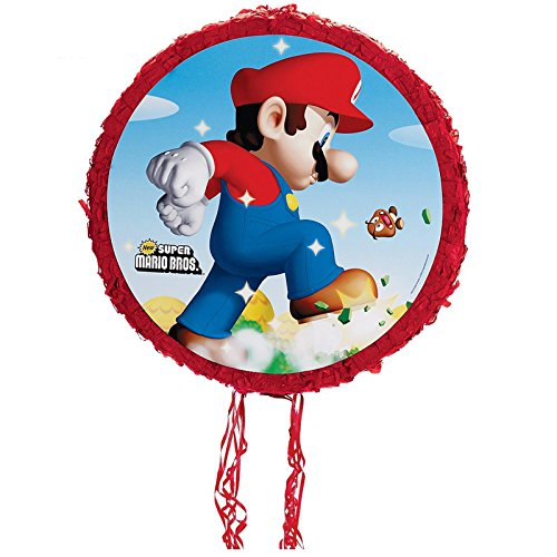 BirthdayExpress Super Mario Party Supplies Pull-String Mario Pinata -