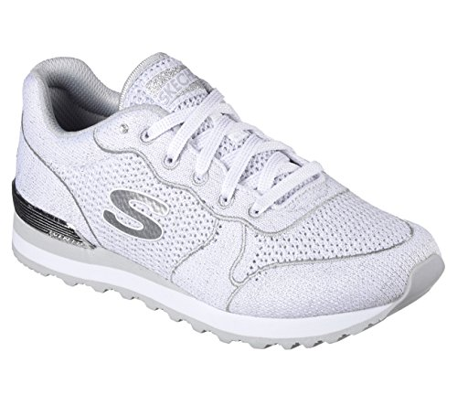Skechers OG 85 Low Flyers Womens Jogging Sneakers White/Silver 11