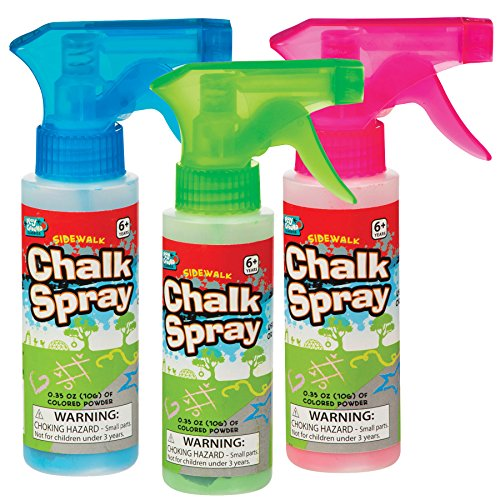 Sidewalk Chalk Spray Set of 4 Colors
