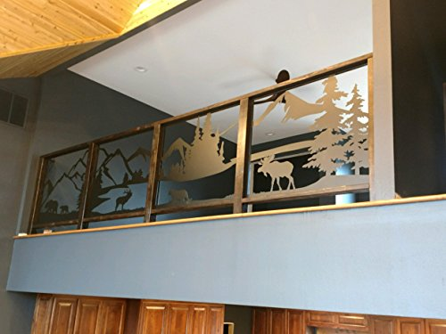 Slanted Handrail Panels for Stairs, Balconies, Decks, and Guardrail (CNC Metal ()