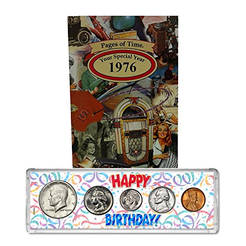 - 1976 Year Coin Set & Greeting Card : 41st Birthday Gift - Happy Birthday