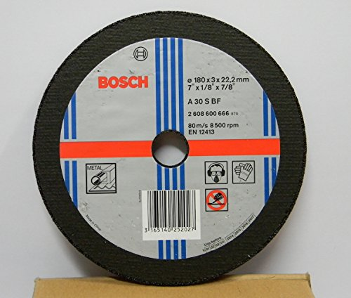 Bosch AG7 Metal 7-inch Cut Off Wheel Set (Multicolor, Pack of 5) 1