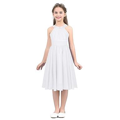 ed12f5520f4 iiniim Robe de Mariage Bal Enfant Fille Vêtements de Cérémonie Robe de Soiree  Mousseline Robe Longue