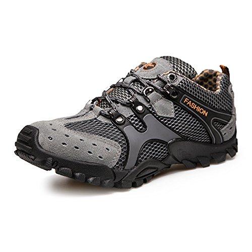 Hommes Absorption Course Chaussures Nouvelles dérapant De Des Et Loisirs Sport Pour Randonnée Automne En Yxlong Plein Air Anti Gray Chocs 68wSOxqp6
